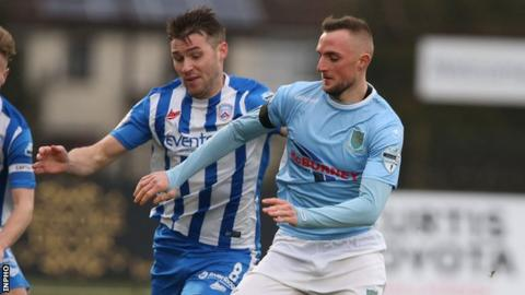 Ballymena's most recent game was a 2-0 league derby defeat by Coleraine on 7 March