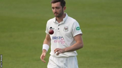 Gloucestershire paceman Matt Taylor took 5-57 at Cheltenham College to help earn maximum bowling points and his fifth 'five for' in first-class cricket