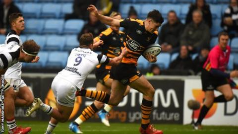 Ross Neal scored the first and set up the second try, inside the first 10 minutes of his Wasps debut against Bristol, then later claimed the bonus-point try
