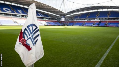Bolton Wanderers are bottom of League One and had already been given a 12-point deduction for entering administration in May