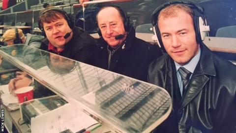 Mick Lowes (left), Mick Martin and Alan Shearer