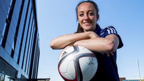Scotland striker Lisa Evans