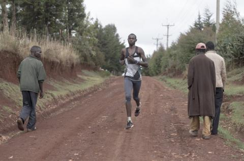 in_pictures Cornelius Kemboi pictured on a training run
