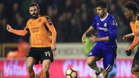 Jack Price was in the Wolves side narrowly beaten at home by Chelsea in the FA Cup fifth round last season