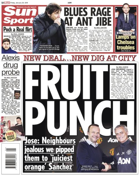The Sun's back page on Friday