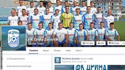 FK Drina Zvornik Facebook page