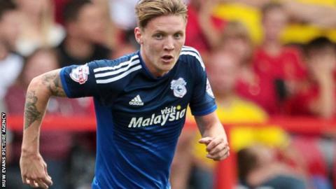 Cardiff City striker Joe Mason