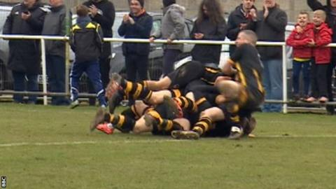 Morpeth Town celebrating