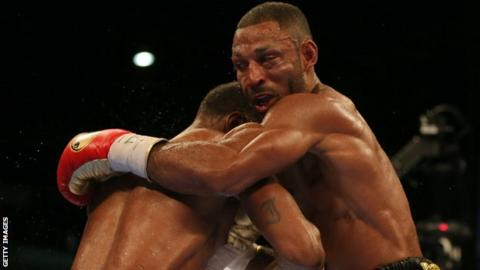 Kell Brook in action against Errol Spence Jr