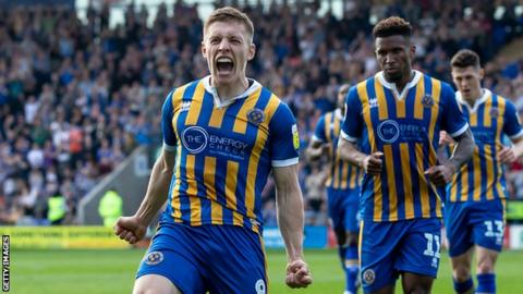 Greg Docherty has scored 10 goals and provided 11 assists for Shrewsbury this season