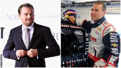 Leonardo DiCaprio and Jacques Villeneuve
