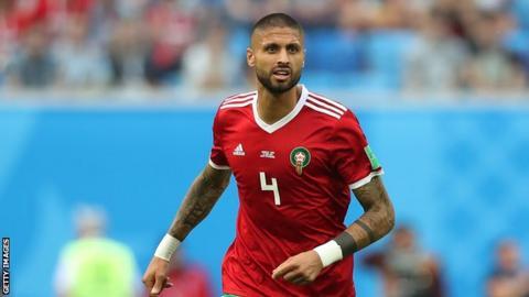 Manuel Da Costa playing for Morocco