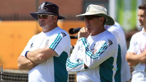 Paul Farbrace with Trevor Bayliss