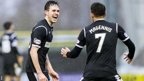 Liam Smith was on target for St Mirren