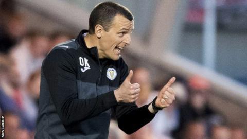 St Mirren manager Oran Kearney