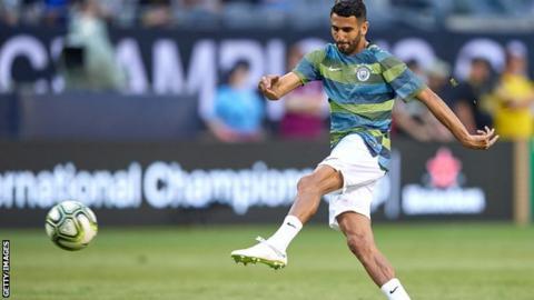 Riyad Mahrez in training for Manchester City