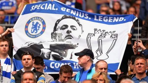 Tottenham manager Jose Mourinho was loved by Chelsea fans