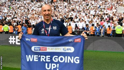 Alberto Escobar was part of Fulham's backroom team the day they beat Aston Villa to win promotion to the Premier League in May 2018
