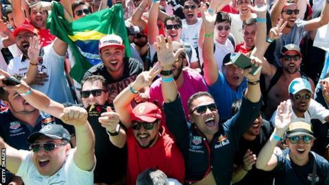 Brazilian GP fans