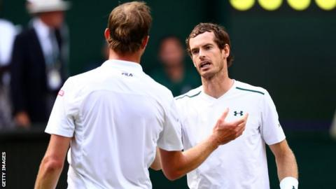 Andy Murray (right)