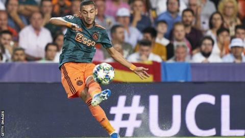 Tottenham fans react as Hakim Ziyech scores for Ajax in Champions League