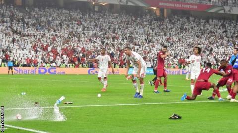 Qatar players