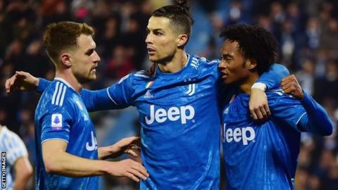 Juventus are top of Serie A by one point before they host third placed Inter