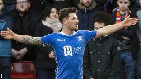 St Johnstone's Matty Kennedy celebrates scoring