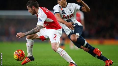 Arsenal defender Mathieu Debuchy