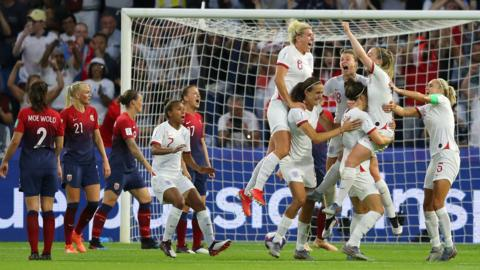 Le Havre, France, 27 June: Expectations of England's chances at the Women's World Cup have mirrored the soaring temperatures in France since Lucy Bronze's strike sealed a 3-0 win for the Lionesses in the quarter-finals against Norway at the Stade Oceane. (Photo by Richard Heathcote/Getty Images)