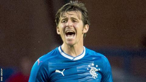 Rangers midfielder Joey Barton
