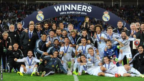 Real Madrid 2014 Super Cup win pic