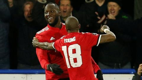 Romelu Lukaku and Ashley Young