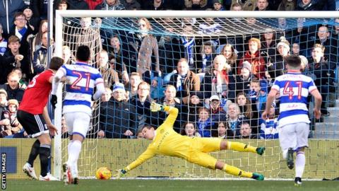 Alex Smithies saves Chris Martin's early penalty