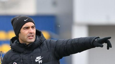 Paulo Fonseca oversees training