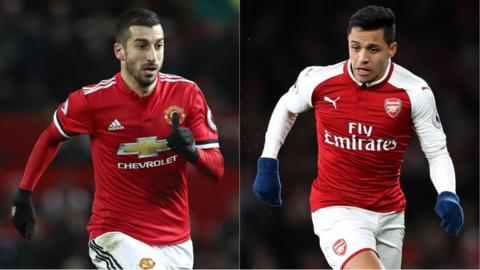 Henrik Mkhitaryan and Alexis Sanchez