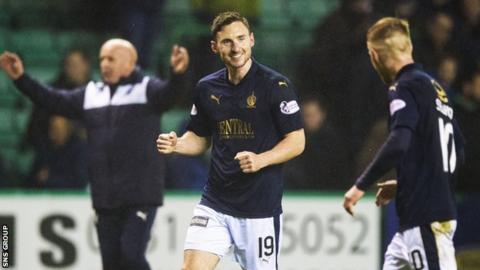 Bob McHugh grabbed the late leveller for 10-man Falkirk