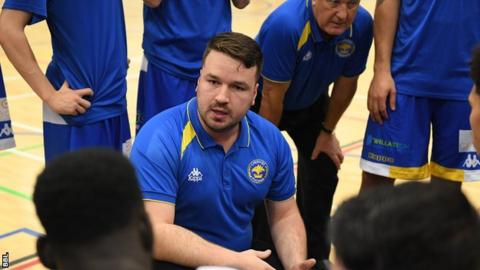 Cheshire Phoenix Head Coach Ben Thomas in a time out