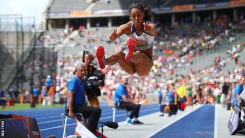 102910109 katarina johnson thompson reuters - Johnson-Thompson leads heptathlon with two events to go