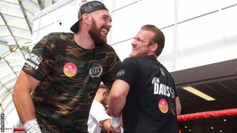 Fury worked with Davison since his return to boxing after battling mental health issues