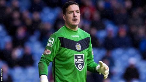 St Mirren goalkeeper Jamie Langfield