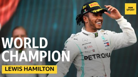 Lewis Hamilton, world champion graphic
