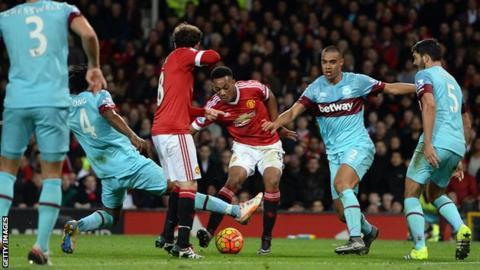Manchester United striker Anthony Marital