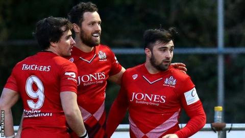 Bristol Rugby celebrate a try
