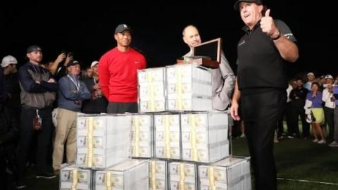 Phil Mickelson beats Tiger Woods on 22nd hole in $9m showdown