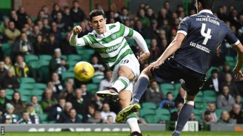 Tom Rogic volleys home Celtic's opening goal