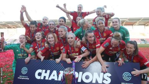 Manchester United won promotion from the Women's Championship in their first season, last term