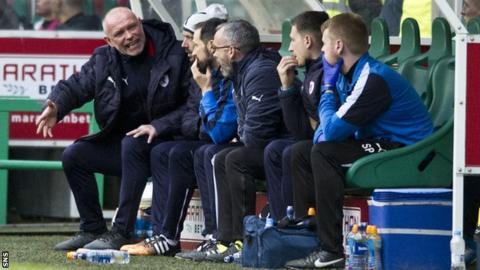 John Hughes and his coaching staff