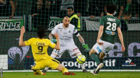 Saint-Etienne have not beaten Paris St-Germain since 2012