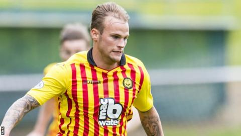 Kallum Higginbotham in action for Partick Thistle
